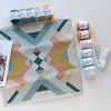 Southwest Geometry Pillow Cover Needle Felting Kit