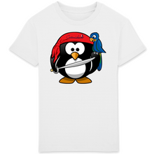 "Tee shirt enfant 100% coton bio ""Pingouin pirate"""