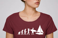 "tee shirt femme bordeaux coton bio ""Evolution"""