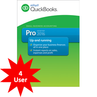 Quickbooks Accounting Pro 2018 - 4 Users