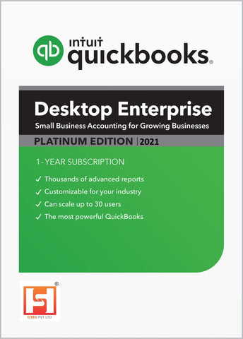 Quickbooks Enterprise 2021 **Platinum Annual Subscription*