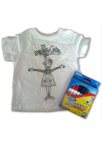 Coloring T-Shirt + Washable Markers
