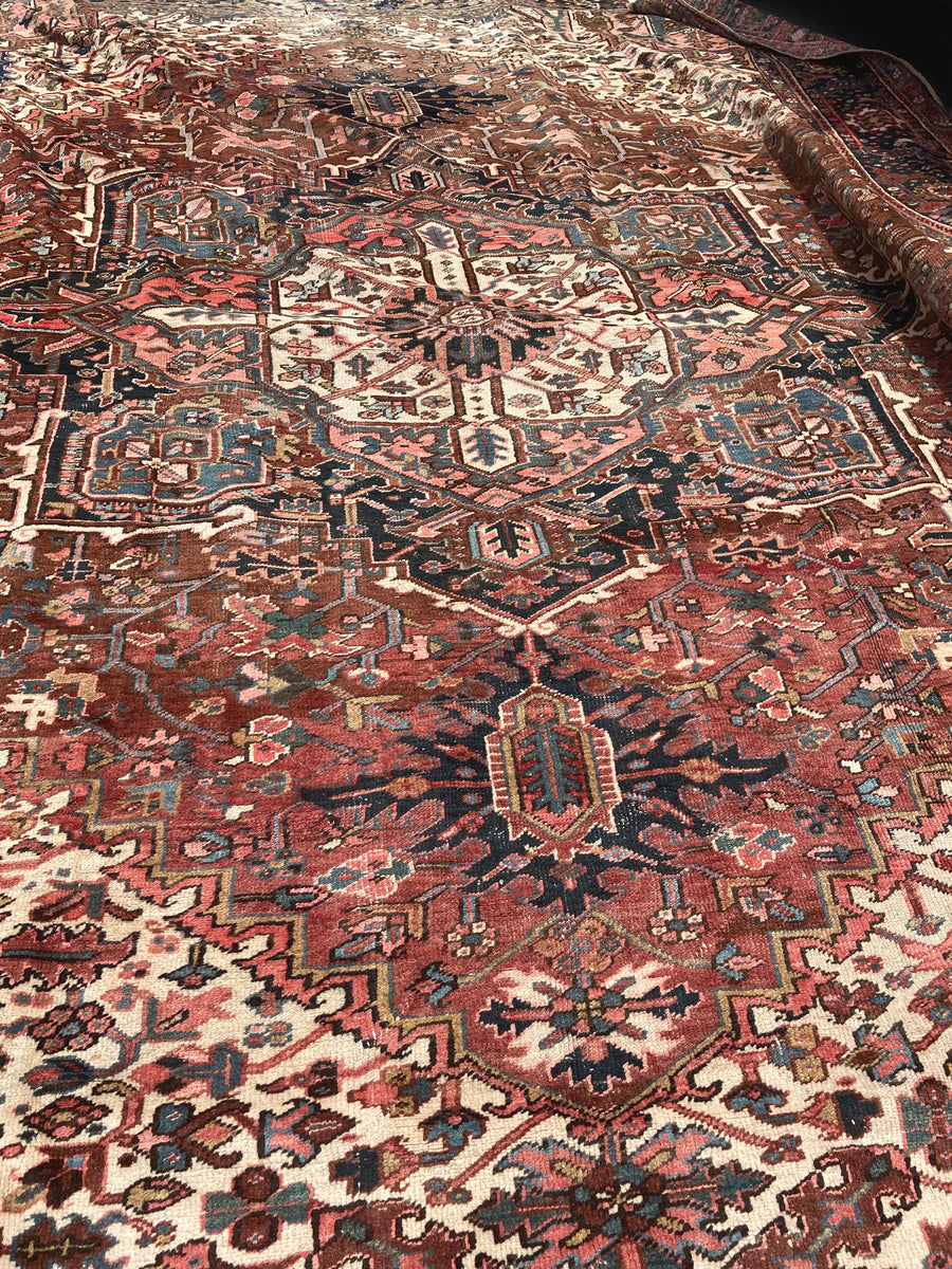 "1930s Large Heriz Rug - 15' X 11' 2"" ON HOLD"