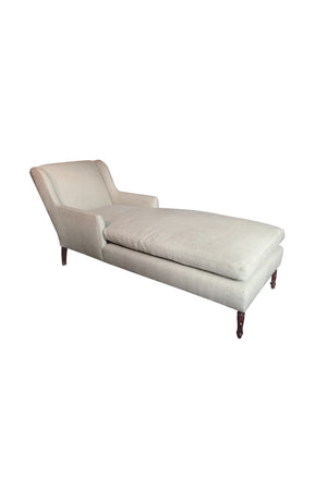 1940s Danish Chaise Lounge in Belgian Linen