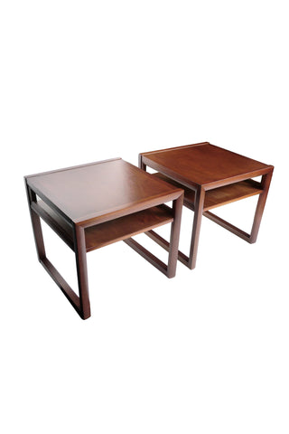 1940s John Stuart Mahogany Side Tables - a Pair