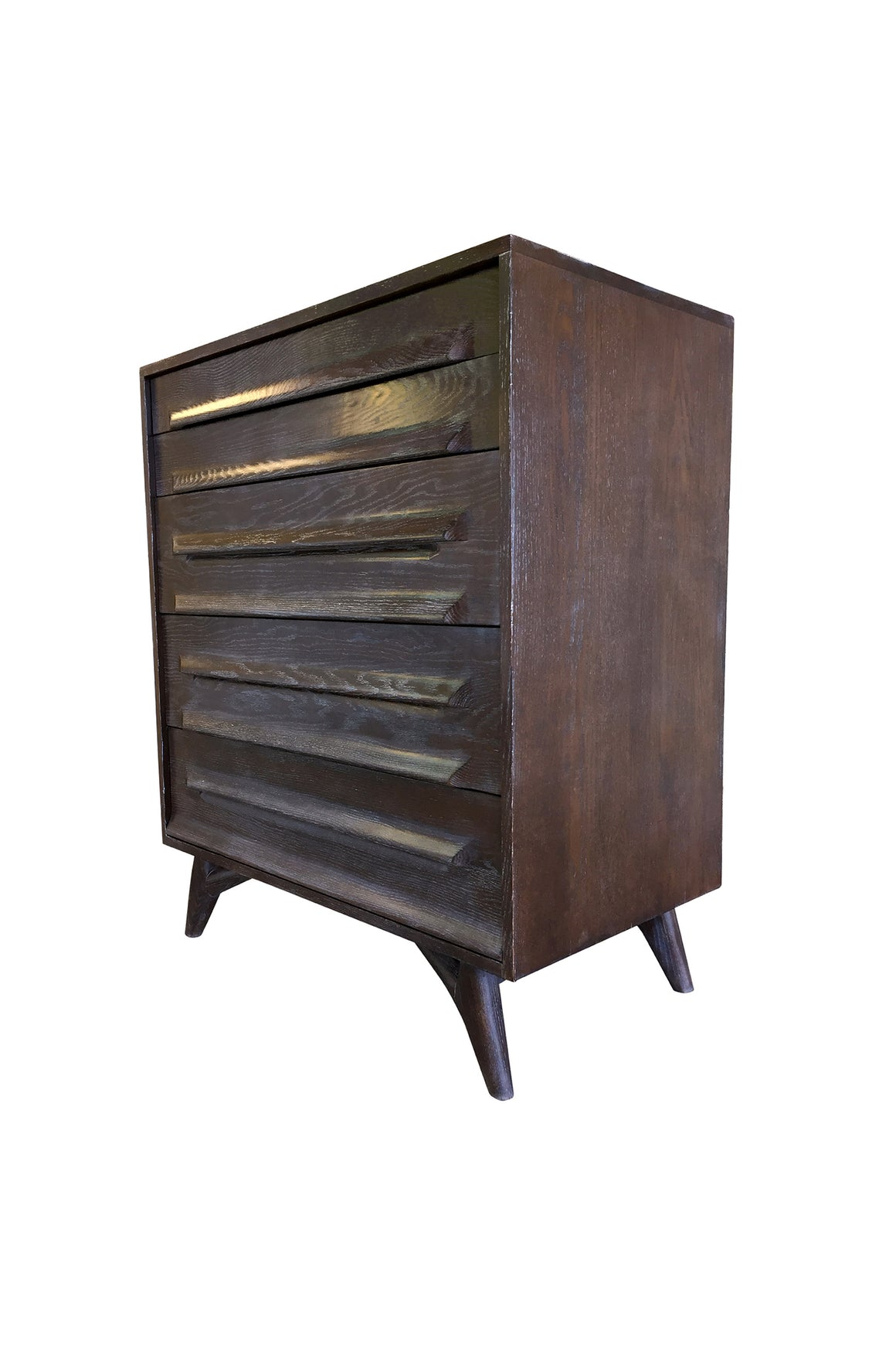 1950s Cerused Oak Chest of Drawers by Jack Van Der Molen for Vanleigh Furniture