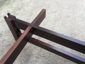 1960s Leather & Rosewood Bench by Ice Parisi