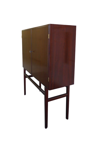 1960s Danish Rungstedlund Mahogany Highboard by Ole Wanscher for Poul Jeppesen