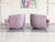 Pair of 1960s Chevron Swivel Club Chairs by Milo Baughman