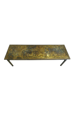 1960s Philip & Kelvin LaVerne Bronze Coffee Table