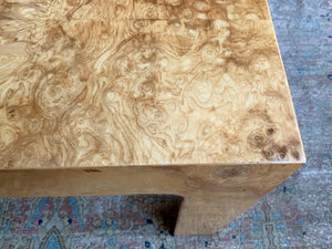 1970s Burl Coffee or Side Table Attributed to Harvey Probber