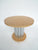 Pair of 1970s Deco-Style Round Chrome & Sycamore Side Tables