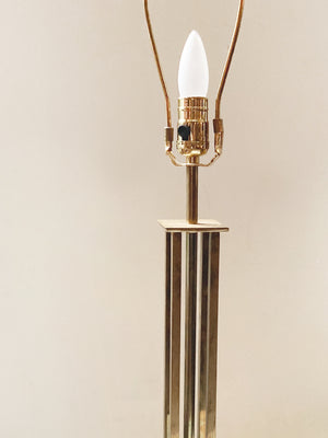 Pair of 1970s Hollywood Regency Style Brass Table Lamps