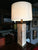 1970s Pink Marble Column Table Lamp by the Chapman Manufacturing Company