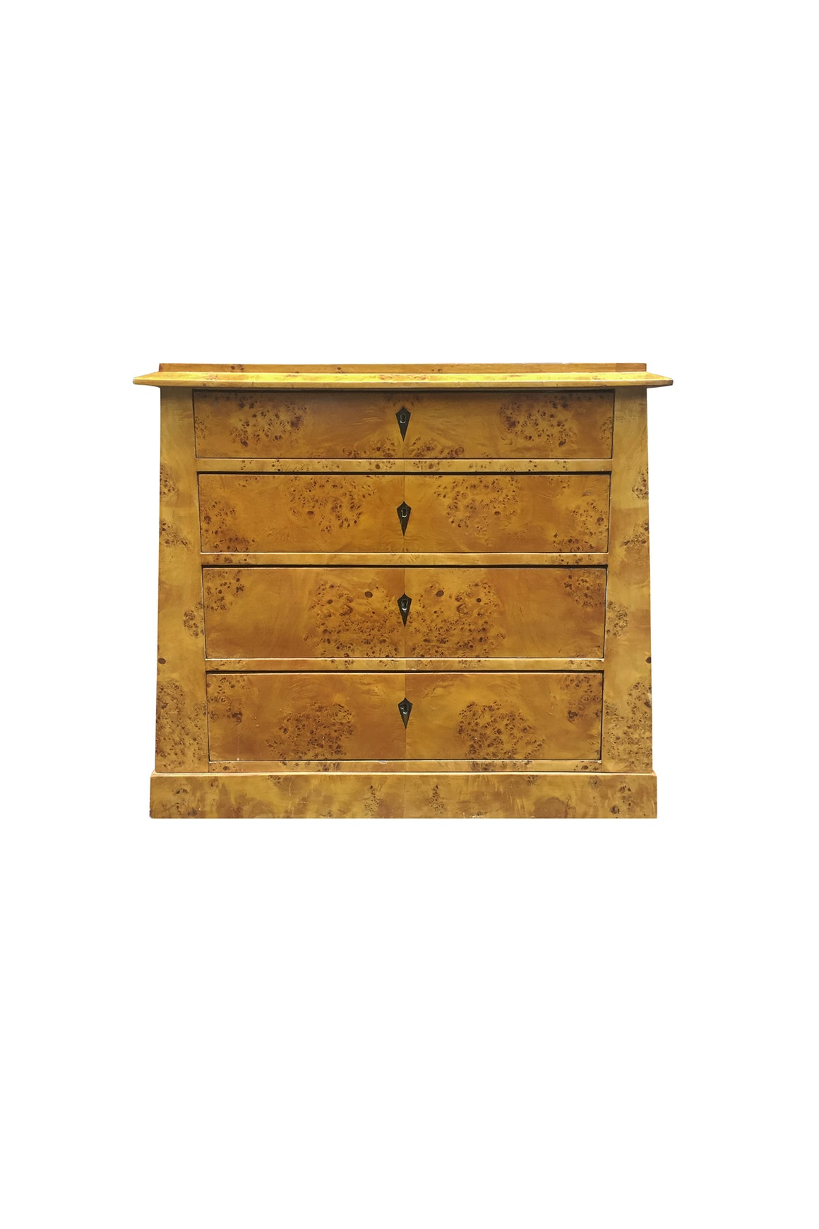 19th Century Biedermeier Burl Chest of Drawers or Commode