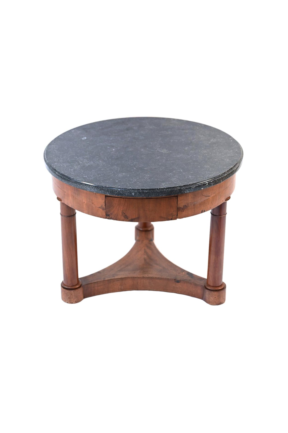 19th Century Neoclassical Mahogany & Marble Side Table