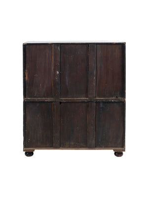 19th Century Two-Part Mahogany Campaign Chest With Secretary Desk
