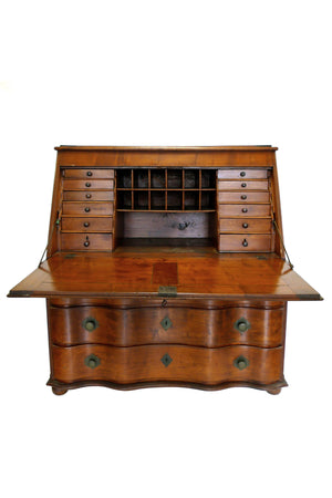 19th Century Swiss Drop-Leaf Secretary Desk & Chest of Drawers