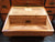 19th Century Two-Part Camphor Wood Campaign Chest & Secretary Desk