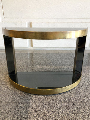20th Century Hollywood Regency Style Demi-Lune Console Table