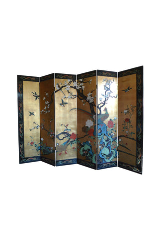 20th Century Chinese Double-Sided Folding Screen