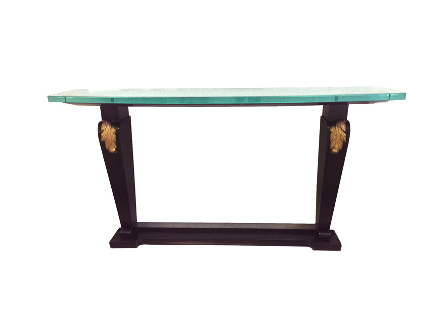 20th Century Art Deco-Style Ebonized Console Table - ON HOLD