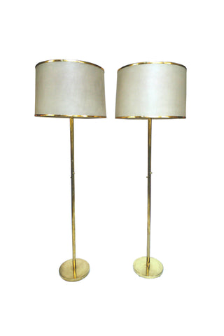 Pair of 20th Century Brass Floor Lamps