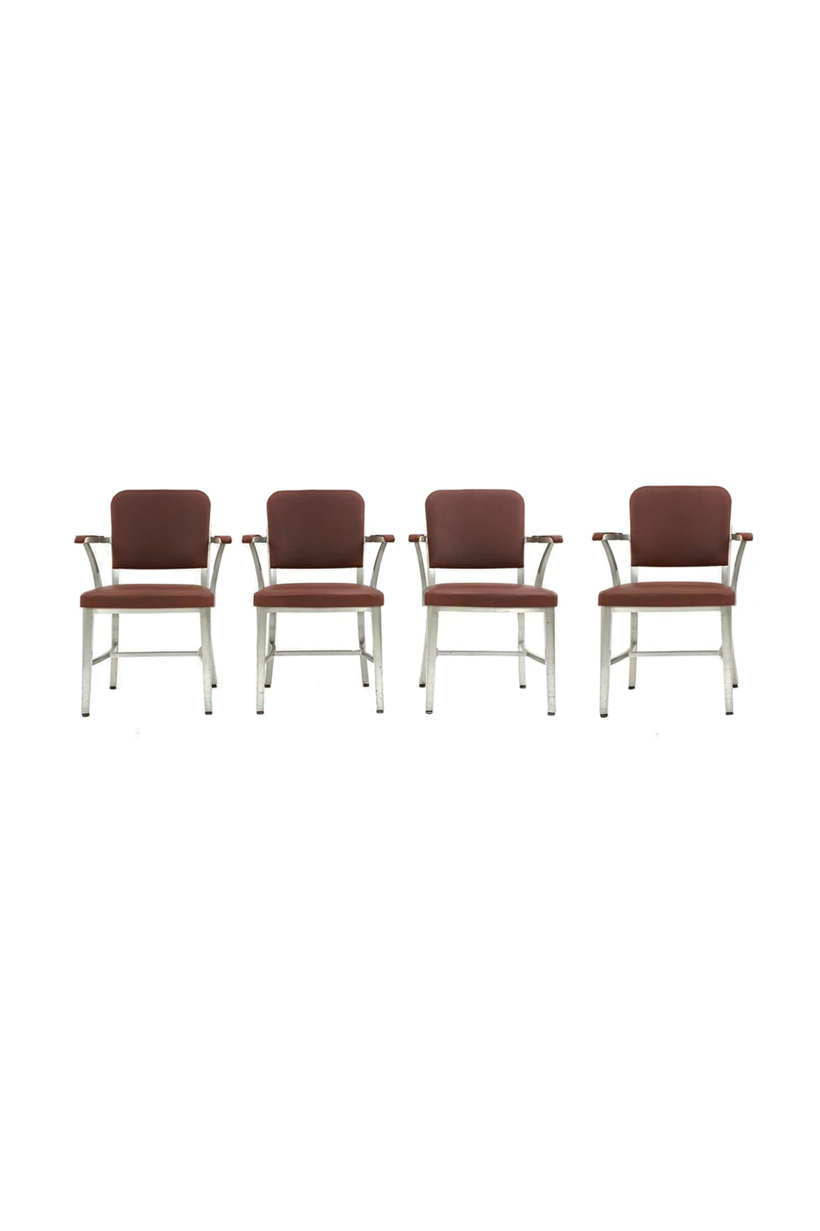 Set of 6 Goodform Aluminum Armchairs by the General Fireproofing Co. - ON HOLD