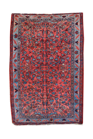 "20th Century Handwoven Malayer Rug 4' 7"" X 6' 10"""