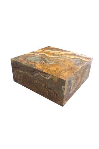 20th Century Italian Square Onyx Marble Coffee Table in the Style of Aldo Tura
