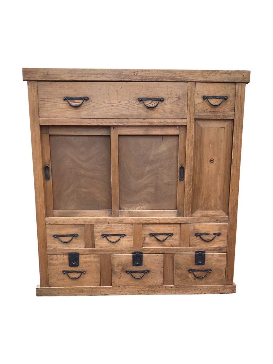 20th Century Elmwood Tansu Chest