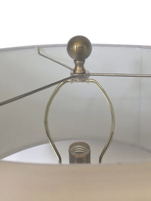 Pair of 20th Century Brass Table Lamps in the Style of James Mont