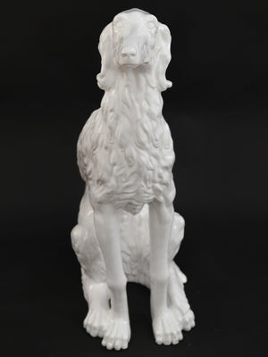 20th Century Porcelain Sculpture of a Russian Wolfhound