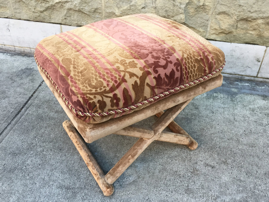 20th Century Striped Velvet Ottoman Bench - 3 Available