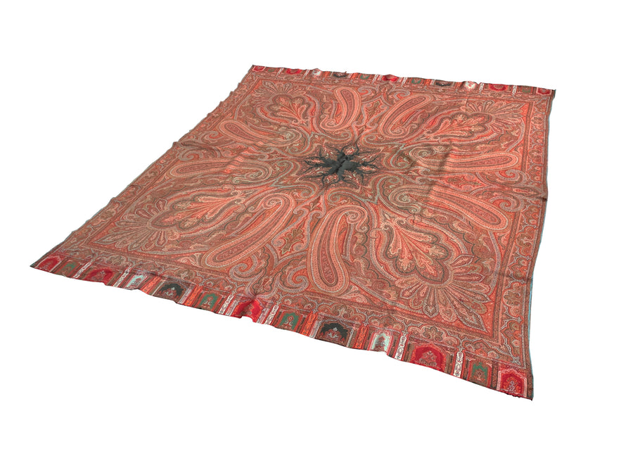 Vintage 20th Century Paisley Throw
