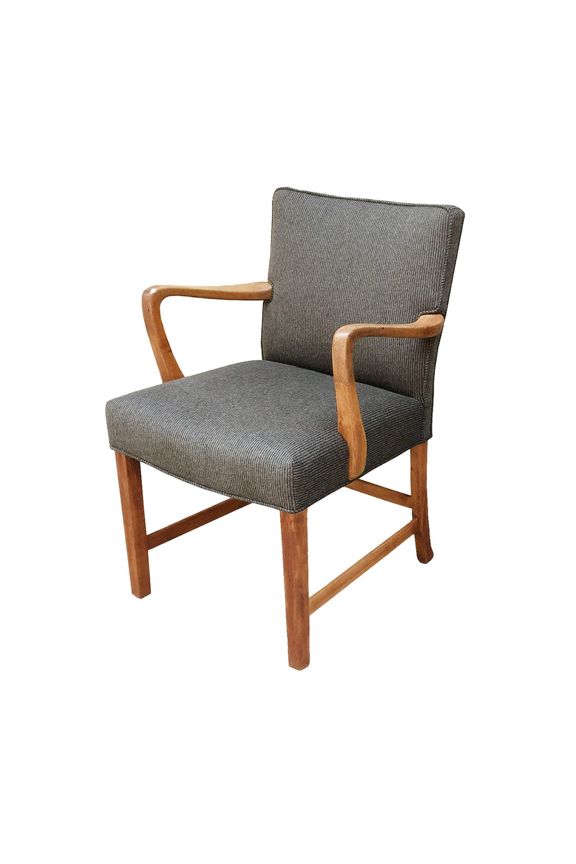 1940s Danish Oak Armchair by Aksel Bender Madsen - 2 Available