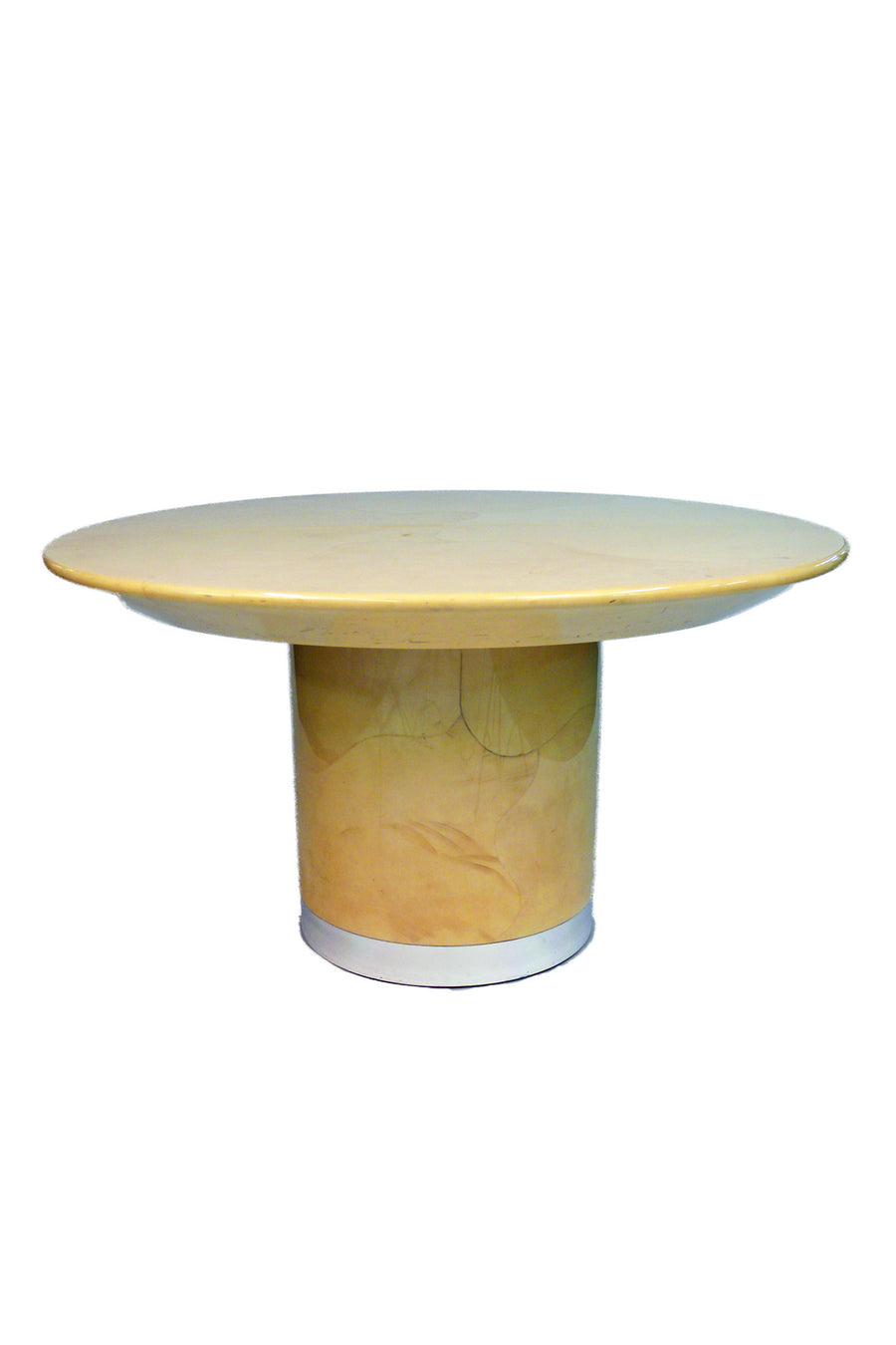 Aldo Tura Goatskin Parchment Dining Table