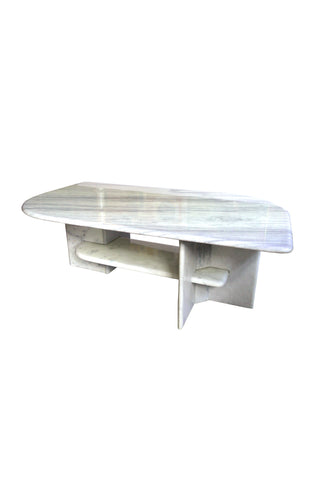 1980s Carrara Marble Coffee Table