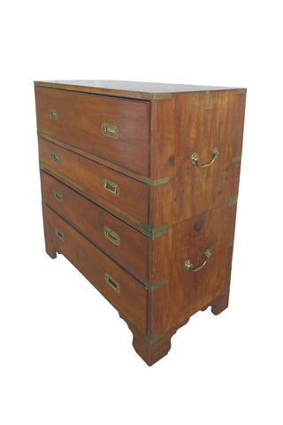 19th Century Campaign Chest of Drawers & Desk