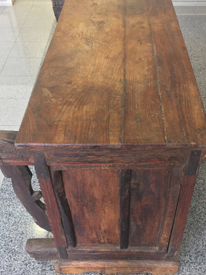 Antique Gothic Revival Walnut Cabinet