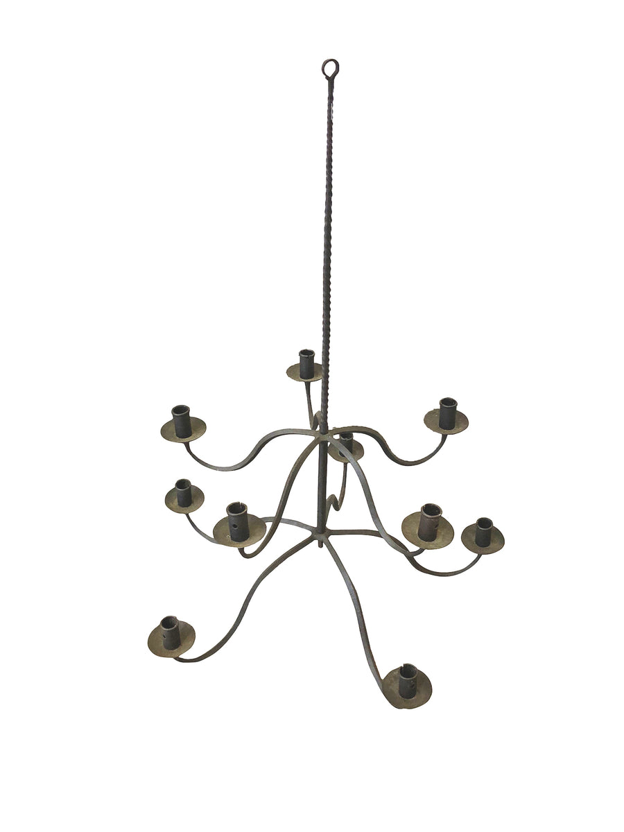 Antique Spanish-Style Hand-Forged Iron Candelabra