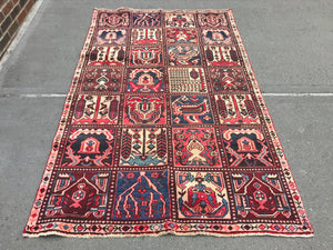 "Early 20th Century Antique Persian Rug - 3' 11"" x 6' 9"""