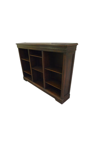 Victorian Oak Open Front Bookcase