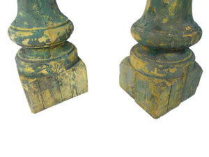 Antique Wooden Balusters - a Pair