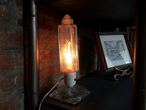 1930s Art Deco Glass Lamps - a Pair