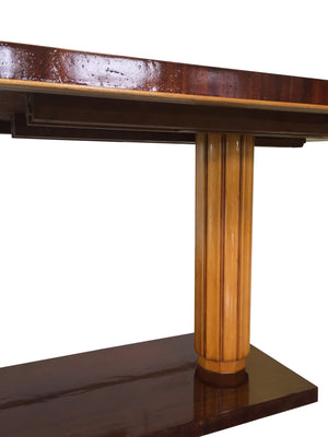 Gilbert Rohde Art Deco Oval Drop-Leaf Desk