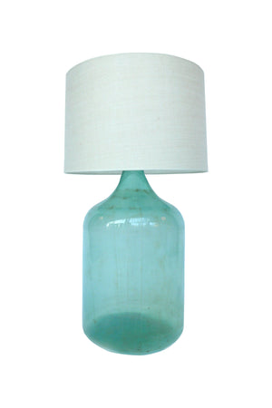 Big Blue Glass Bottle Lamp
