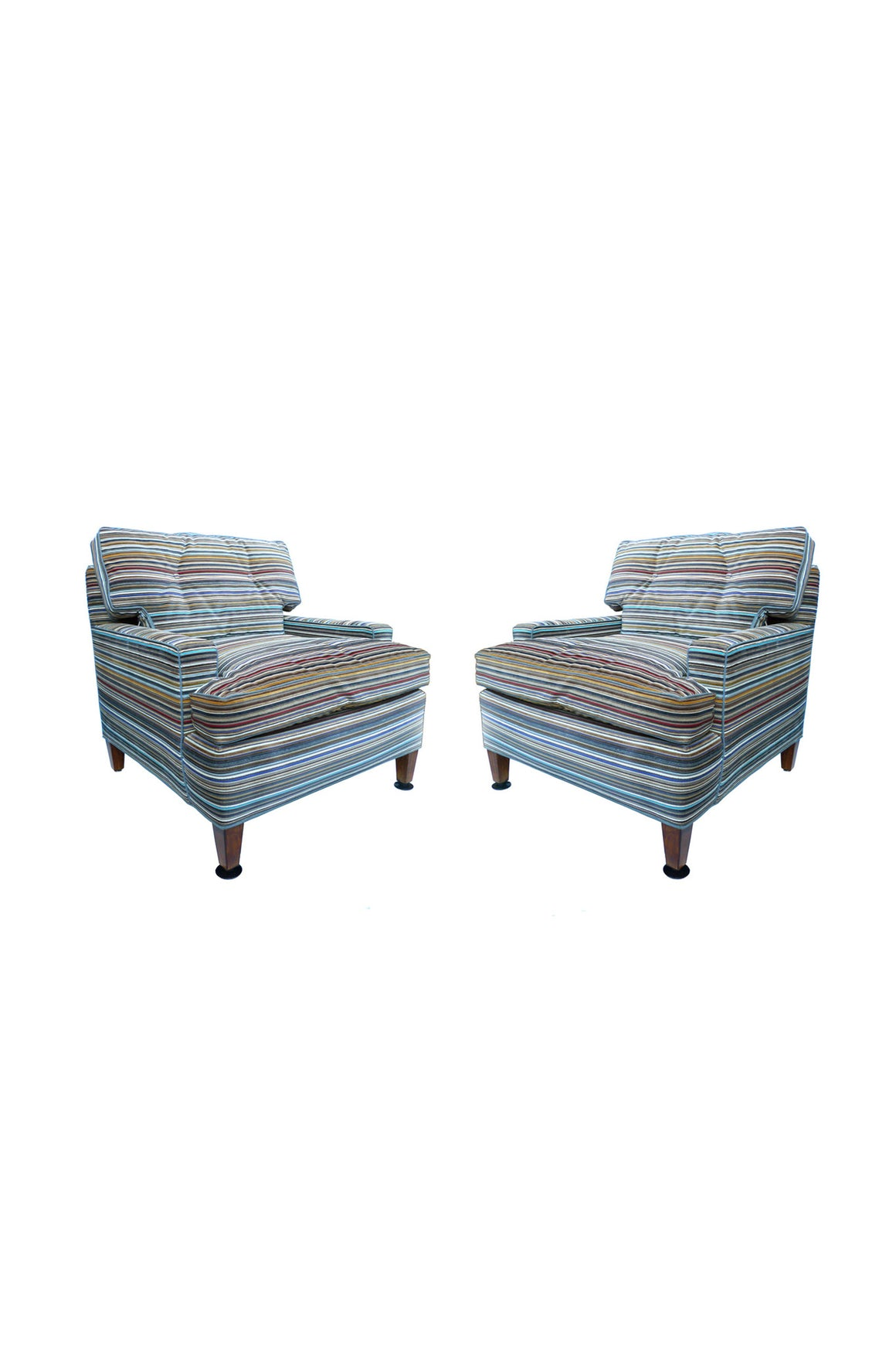 Billy Haines-Style Midcentury Club Chairs - a Pair