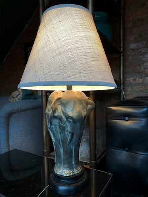Pair of 20th Century Bronze Elephant Table Lamps - ON HOLD