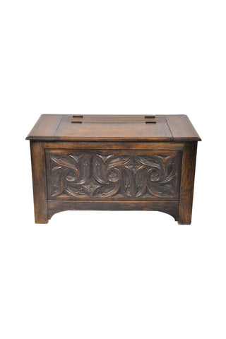 Carved Wooden Blanket Chest